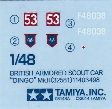 Tamiya-Daimler-Dingo-1zu48-18 Daimler Dingo Mk. II von Tamiya (1:48 # 32581)