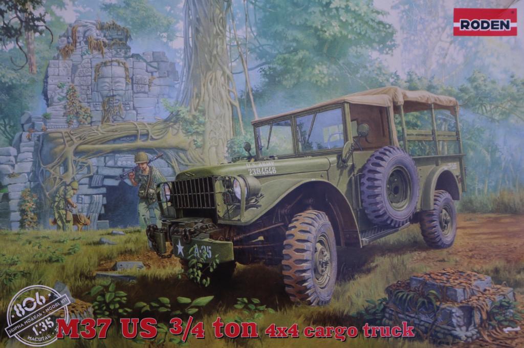 Boxart M37 US 3/4 ton 4x4 Cargo Truck 1:35 Roden (806)