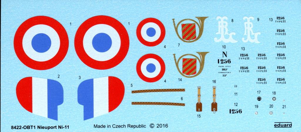Eduard_Ni-11_Weekend_2016_10 Nieuport Ni-11 - Eduard Weekend Edition 1/48 - BAUSATZ UND ZUBEHÖR