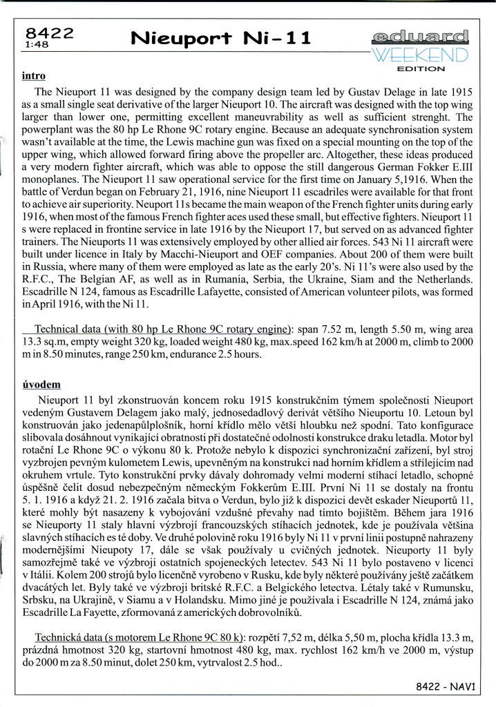 Eduard_Ni-11_Weekend_2016_12 Nieuport Ni-11 - Eduard Weekend Edition 1/48 - BAUSATZ UND ZUBEHÖR