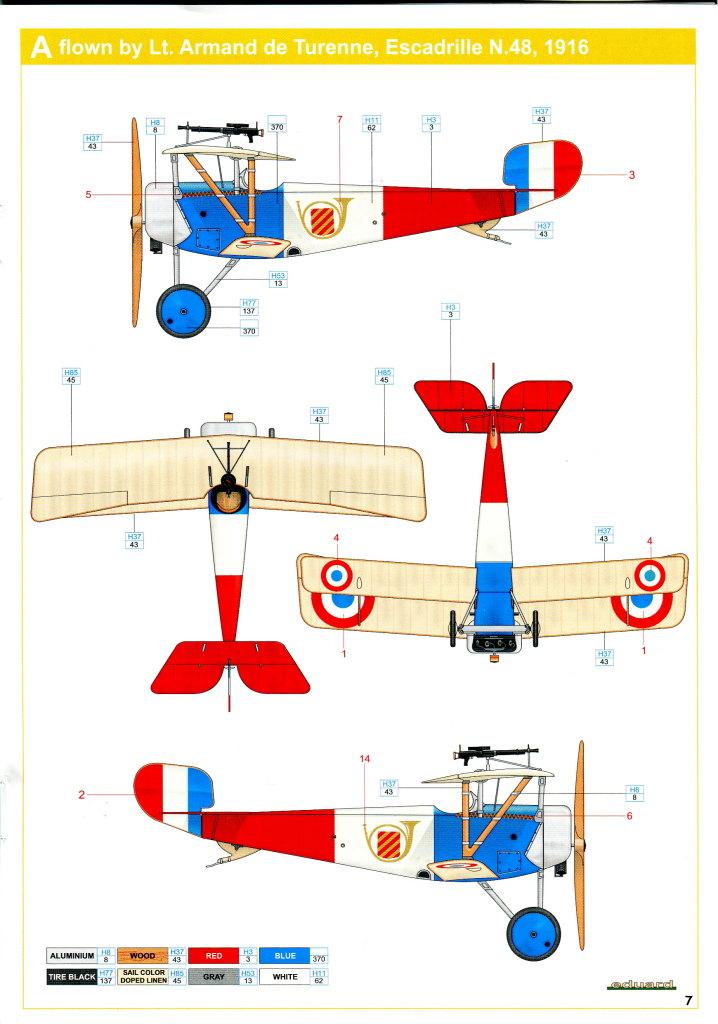 Eduard_Ni-11_Weekend_2016_18 Nieuport Ni-11 - Eduard Weekend Edition 1/48 - BAUSATZ UND ZUBEHÖR