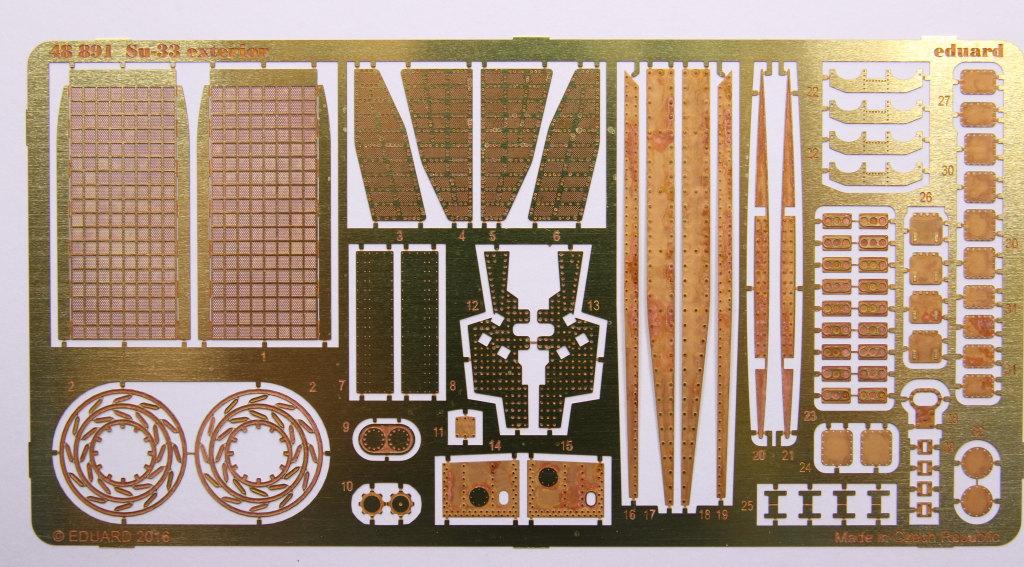 Eduard_SU33_Exterieur_02 Zubehör zur neuen Kinetic Su-33 - Interieur, Exterieur, Mask - Eduard 1/48