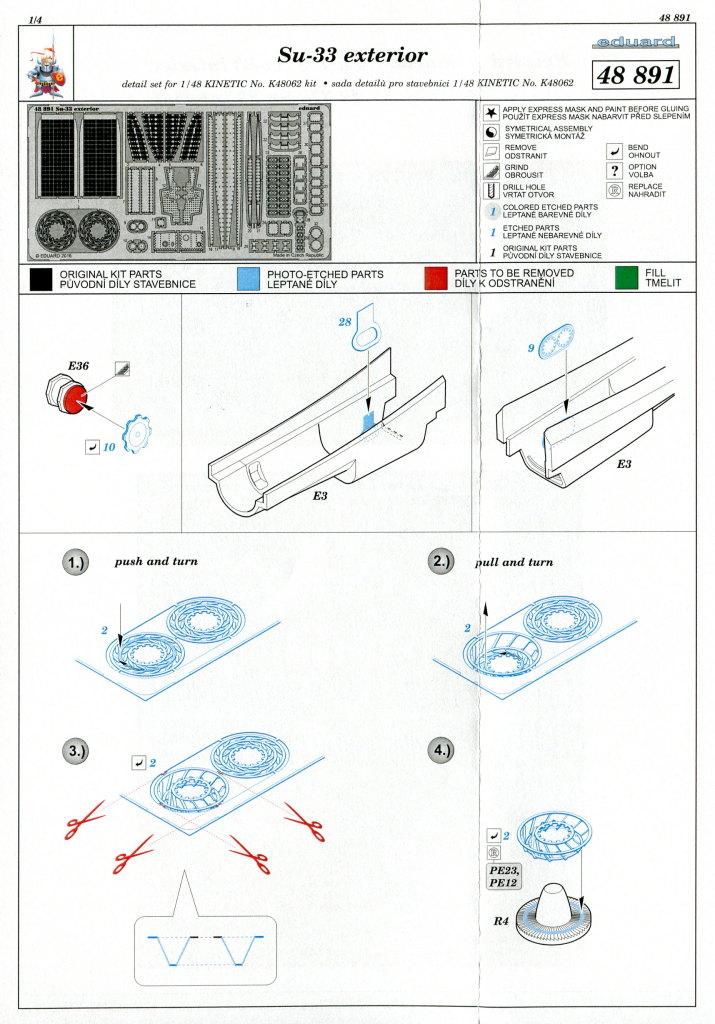Eduard_SU33_Exterieur_09 Zubehör zur neuen Kinetic Su-33 - Interieur, Exterieur, Mask - Eduard 1/48