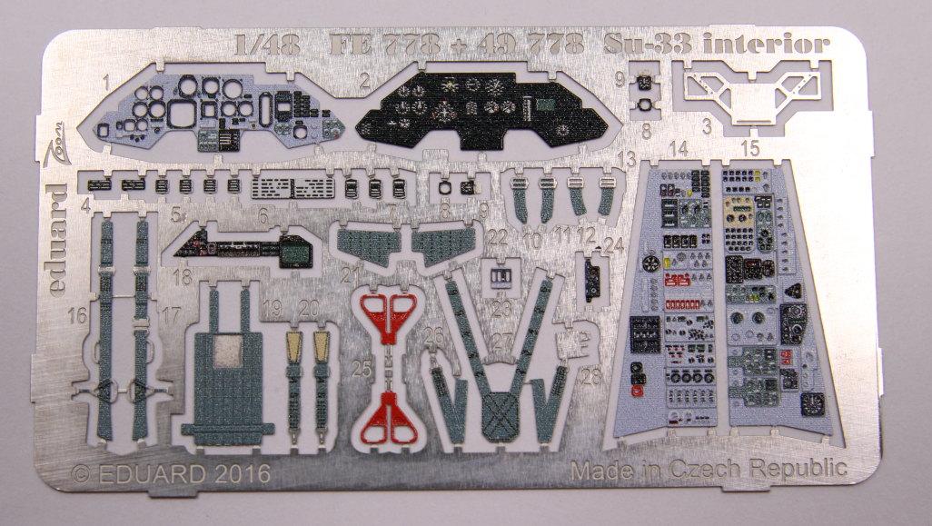 Eduard_SU33_InterieurZoom_02 Zubehör zur neuen Kinetic Su-33 - Interieur, Exterieur, Mask - Eduard 1/48
