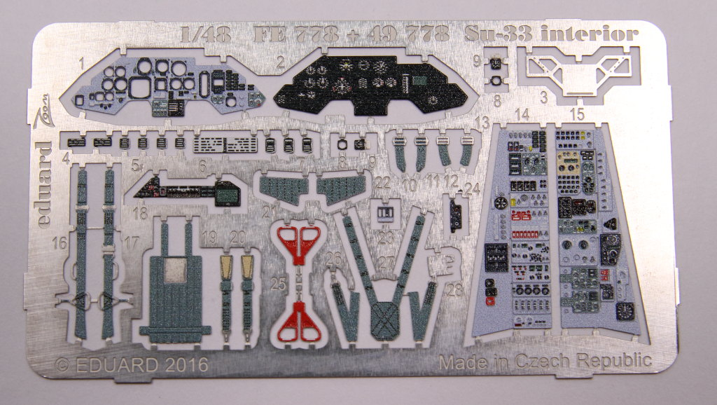 Eduard_SU33_Interieur_01 Zubehör zur neuen Kinetic Su-33 - Interieur, Exterieur, Mask - Eduard 1/48
