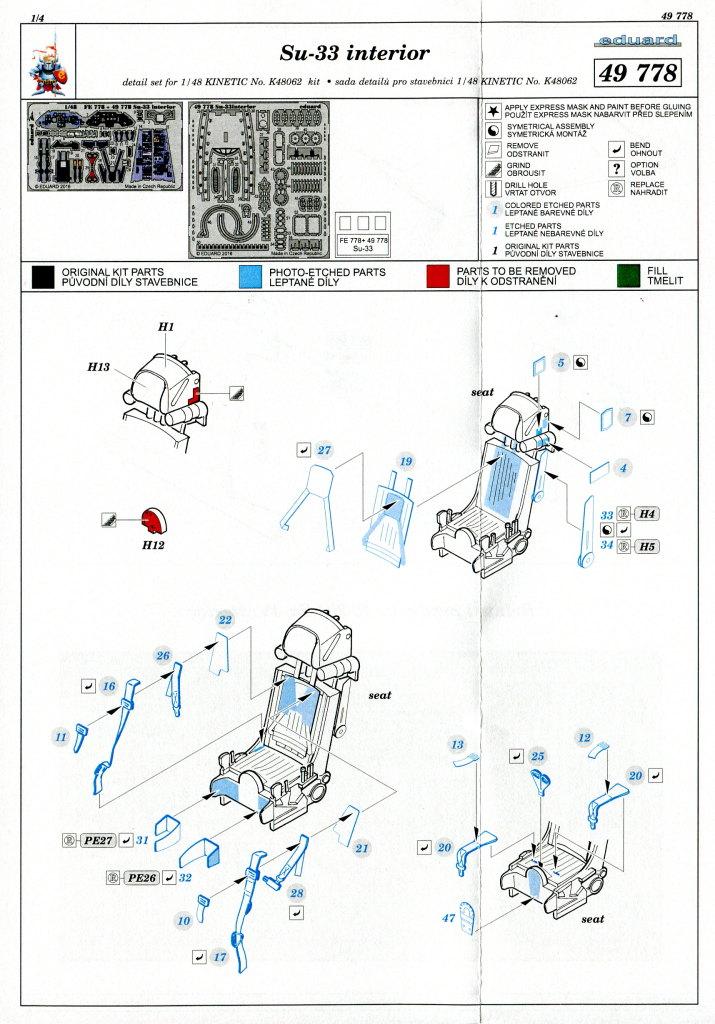 Eduard_SU33_Interieur_17 Zubehör zur neuen Kinetic Su-33 - Interieur, Exterieur, Mask - Eduard 1/48