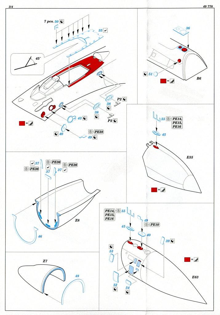 Eduard_SU33_Interieur_19 Zubehör zur neuen Kinetic Su-33 - Interieur, Exterieur, Mask - Eduard 1/48