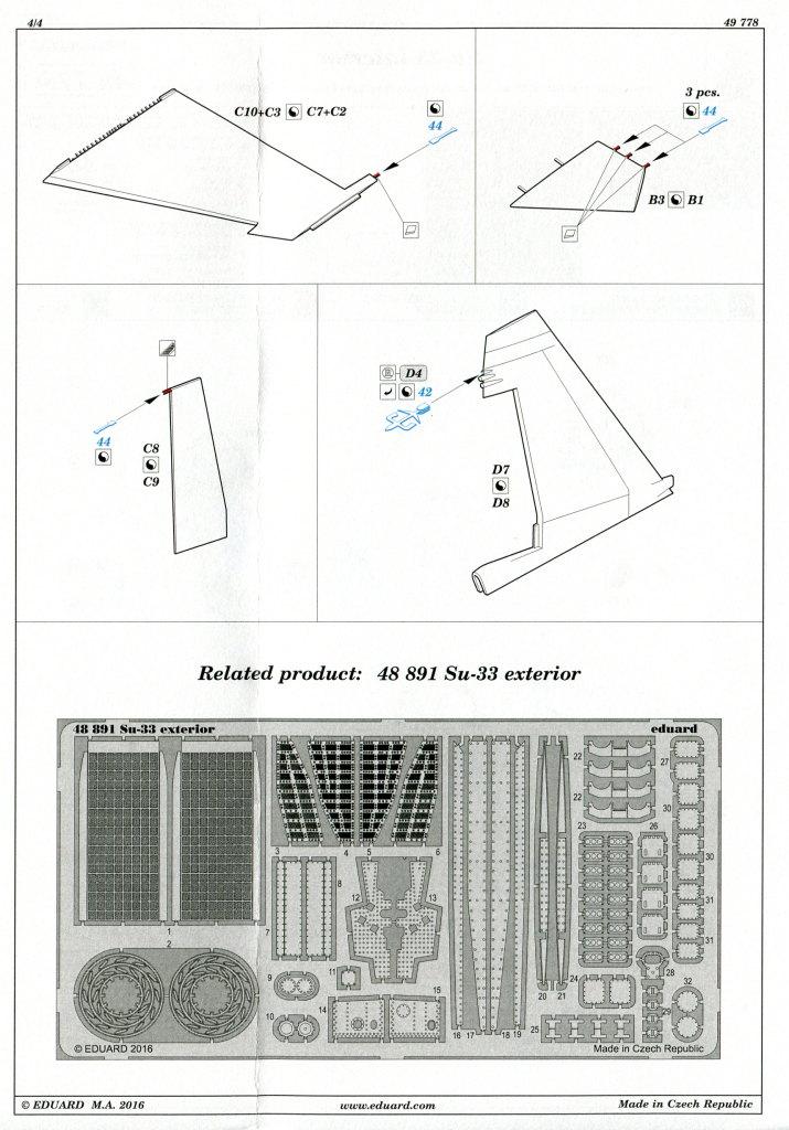 Eduard_SU33_Interieur_20 Zubehör zur neuen Kinetic Su-33 - Interieur, Exterieur, Mask - Eduard 1/48