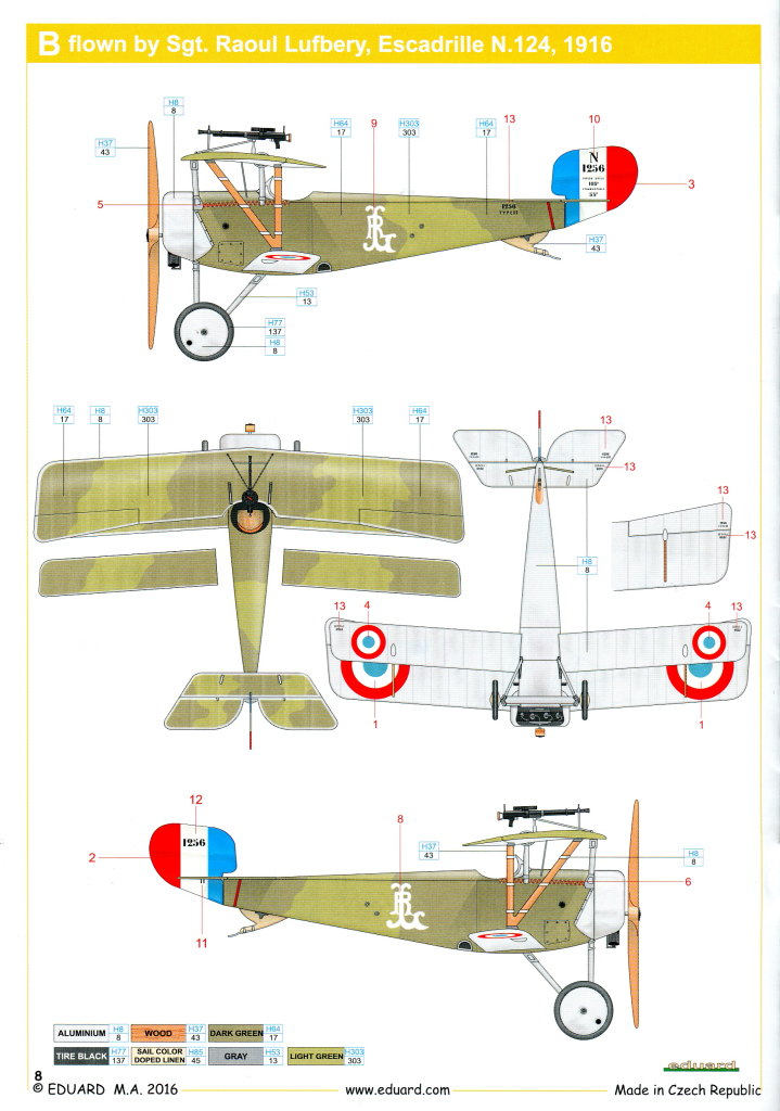 Eduard____01 Nieuport Ni-11 - Eduard Weekend Edition 1/48 - BAUSATZ UND ZUBEHÖR