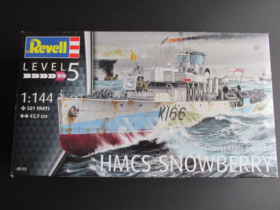 Flower_Class_Corvette_01 HMCS Snowberry Flower Class Corvette in 1:144 von Revell (# )
