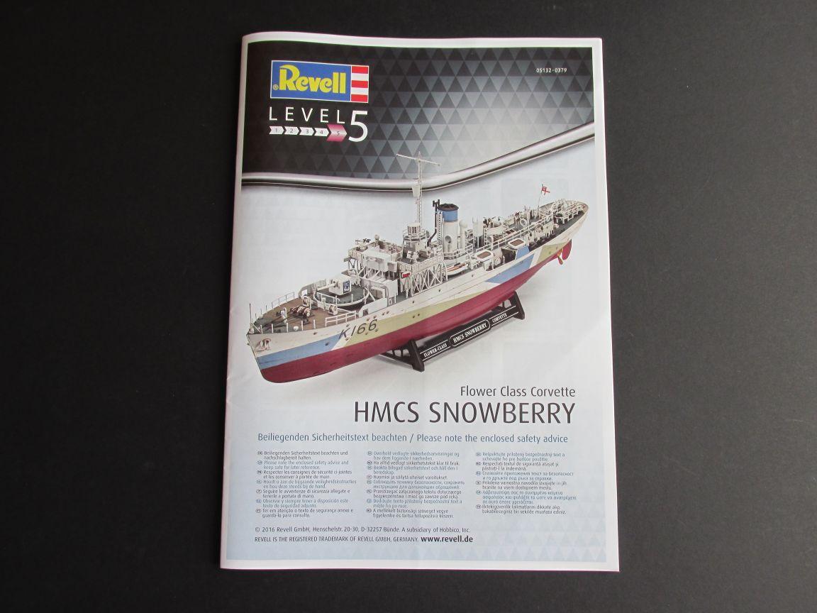 Flower_Class_Corvette_02 HMCS Snowberry Flower Class Corvette in 1:144 von Revell (# )