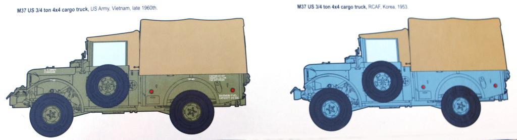 Markerierungsvarianten M37 US 3/4 ton 4x4 Cargo Truck 1:35 Roden (806)