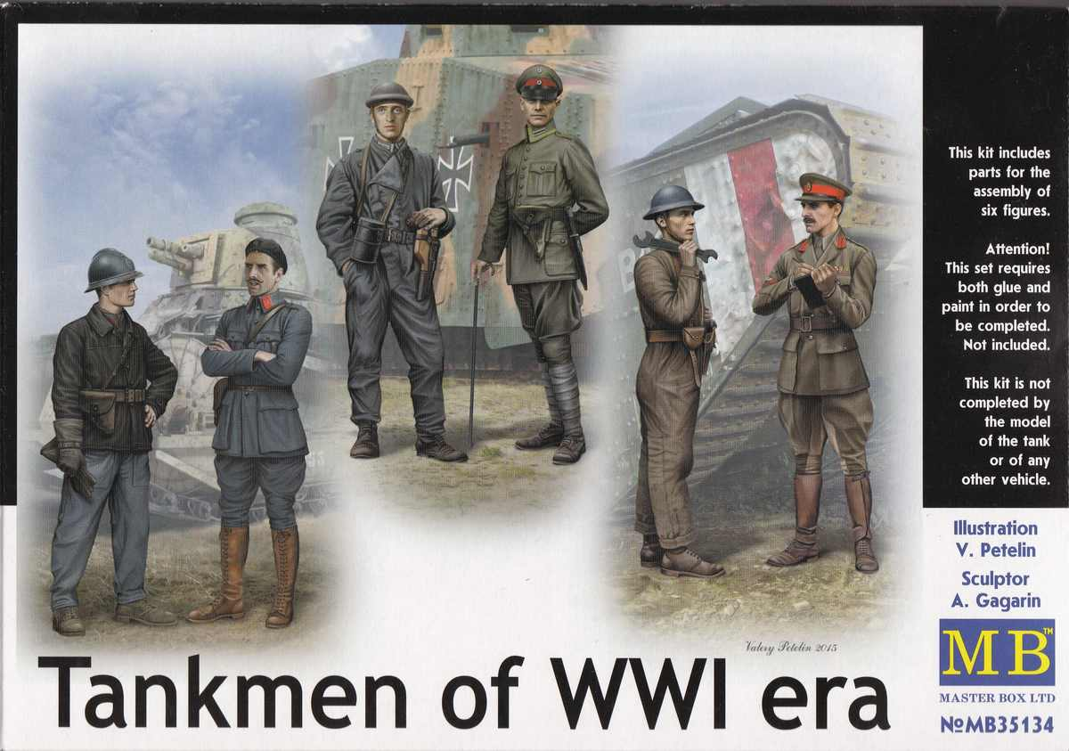 MasterBox-35134-Tankmen-of-WW-I-era-17 Tankmen of WorldWar One ( Master Box # 35134 )