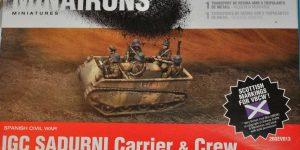 spanischer IGC SADURNI Artillerieschlepper (Minairons 1:72 # 20GEC001)