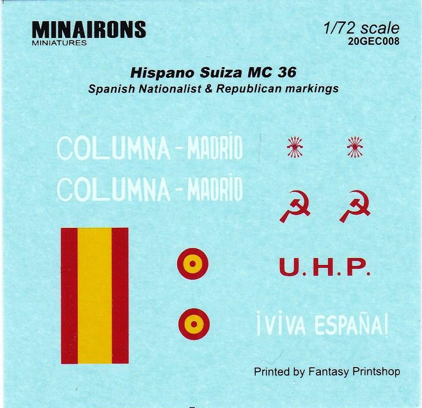 Minairons-GEV008-Hispano-Suiza-MC-36-11 spanischer Panzerwagen Hispano Suiza MC-36 ( Minarons 1:72 # 20GEV008 )