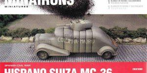 spanischer Panzerwagen Hispano Suiza MC-36 ( Minarons 1:72 # 20GEV008 )