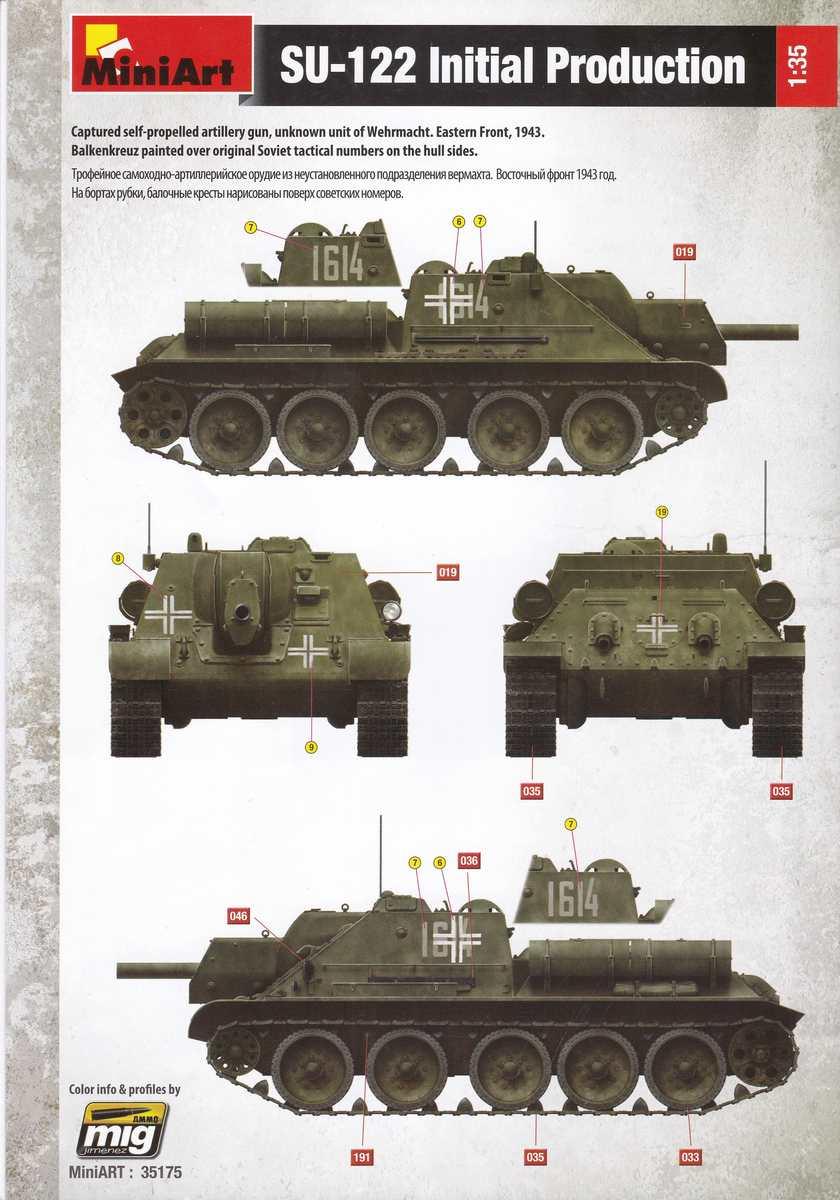 MiniArt-35175-Su-122-Bauanleitung-1 SU-122 Initial Production von MiniArt im Maßstab 1:35 (# 35175)