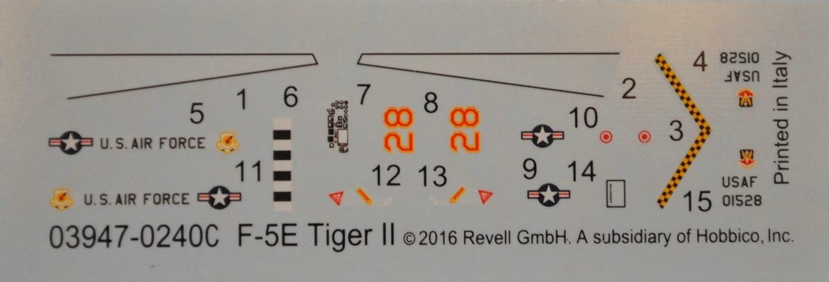 Revell-03947-Northrop-F-5E-Tiger-II-7 Northtrop F-5E Tiger II im Maßstab 1:144 von Revell 03947