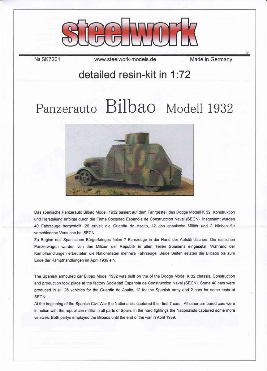 STEELWORK-SK-7201-Bilbao-Panzerwagen-1932-2 Bilbao Panzerwagen 1932 von STEELWORK ( SK 7201 )