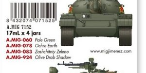 Chinesische Panzerfarben PLA Colours by Ammo of MIG # A.MIG-7152