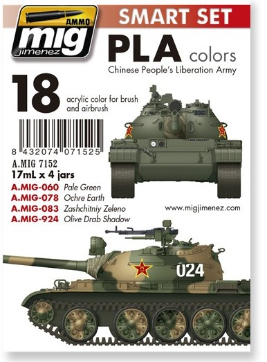 pla-chinese-peoples-liberation-army-colors1-Kopie Chinesische Panzerfarben PLA Colours by Ammo of MIG # A.MIG-7152
