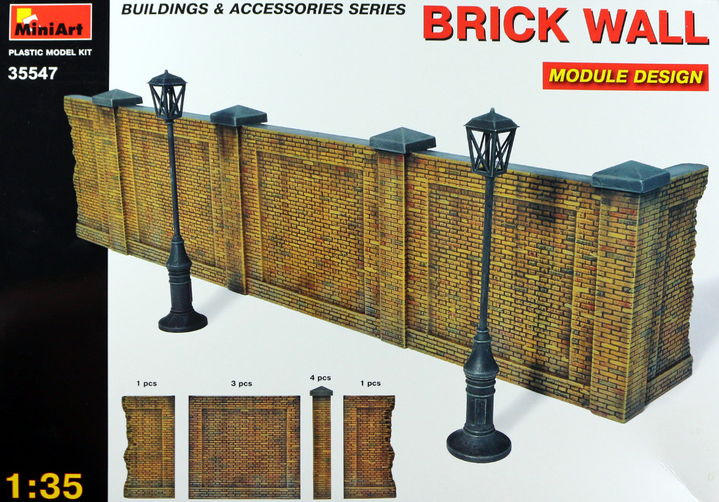 1-1 Brick Wall 1:35 Miniart (35547)