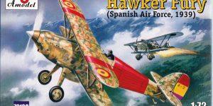 Hawker Spanish Fury im Maßstab 1:72 von A-Model (# 72139 )