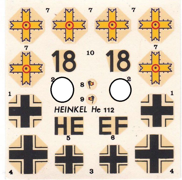 Heller-Heinkel-He-112-10 Kit-Archäologie: Heinkel He 112 von Heller im Maßstab 1:72