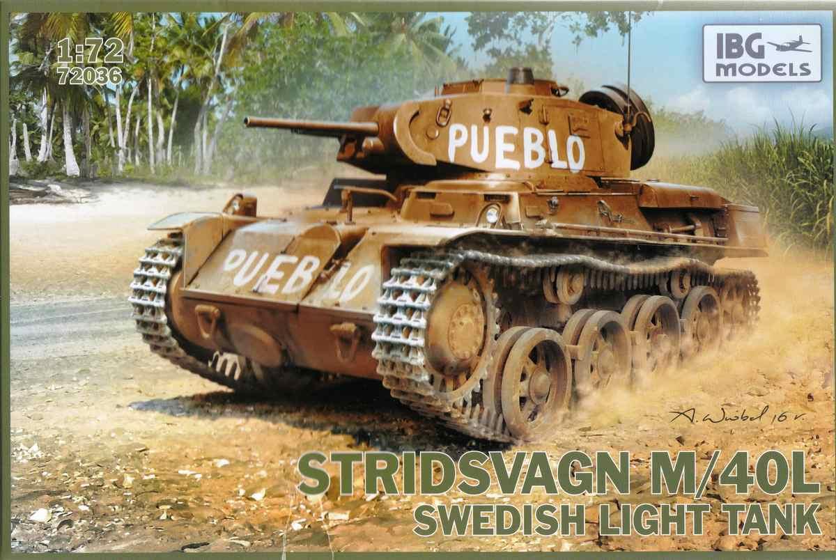 IBG-72036-Stridsvagn-M40L-Pueblo-2 schwedischer Stridsvagn M40L von IBG im Maßstab1:72