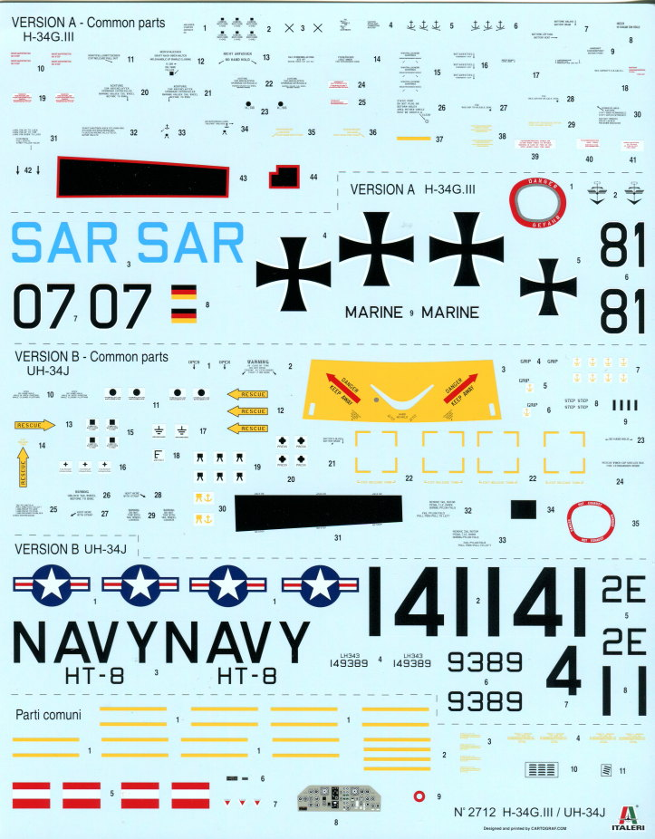 Italeri_H-34G_UH34D_28 H-34G.III / UH-34J  -  Italeri 1/48  ---  No. 2712