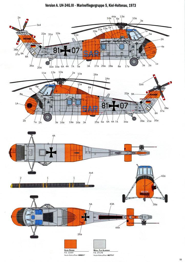 Italeri_H-34G_UH34D_39 H-34G.III / UH-34J  -  Italeri 1/48  ---  No. 2712