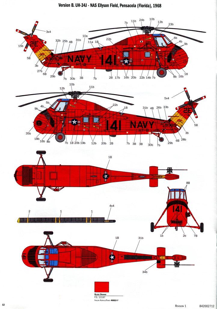 Italeri_H-34G_UH34D_40 H-34G.III / UH-34J  -  Italeri 1/48  ---  No. 2712