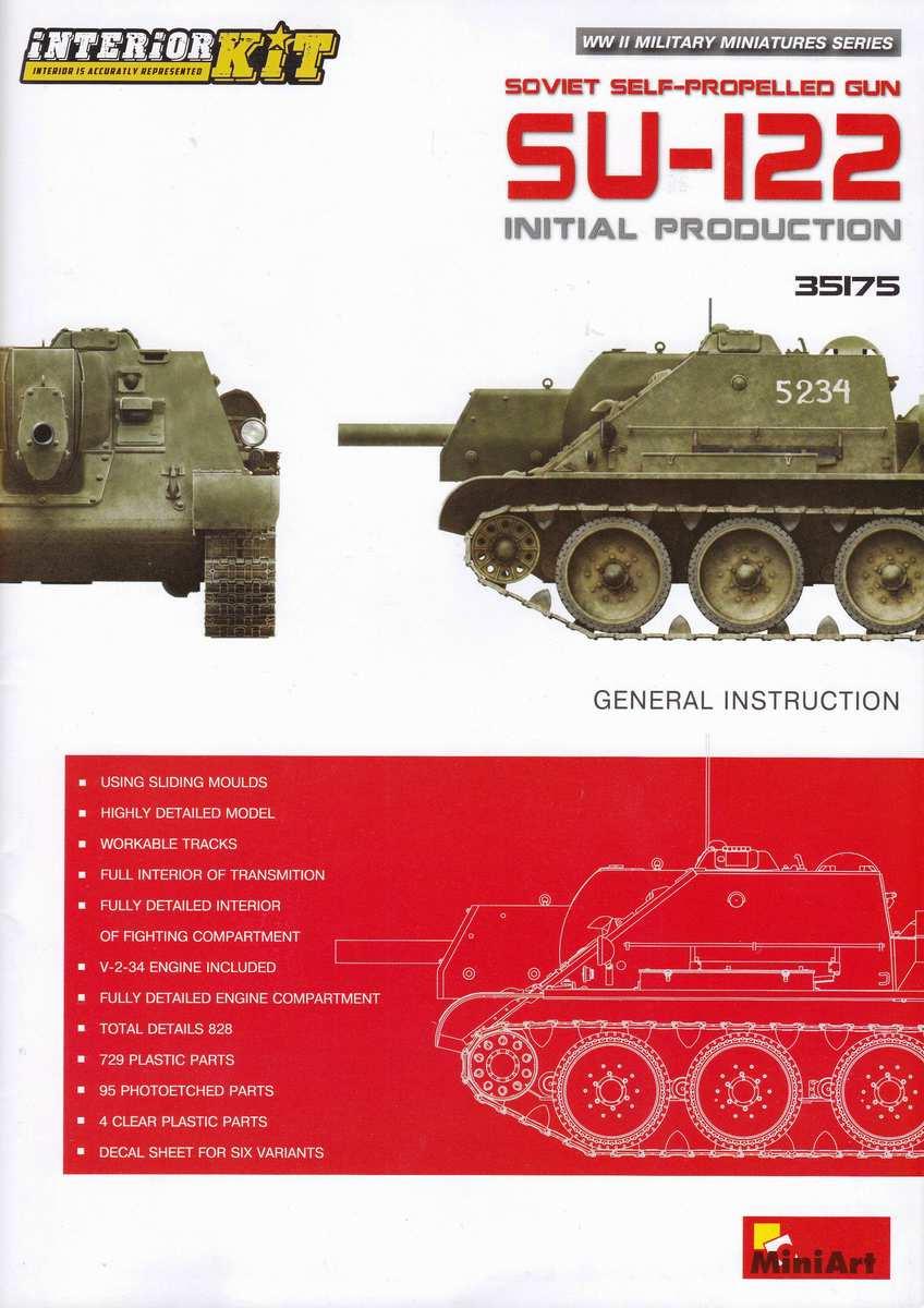 MiniArt-35175-Su-122-Bauanleitung-6 SU-122 Initial Production von MiniArt im Maßstab 1:35 (# 35175)