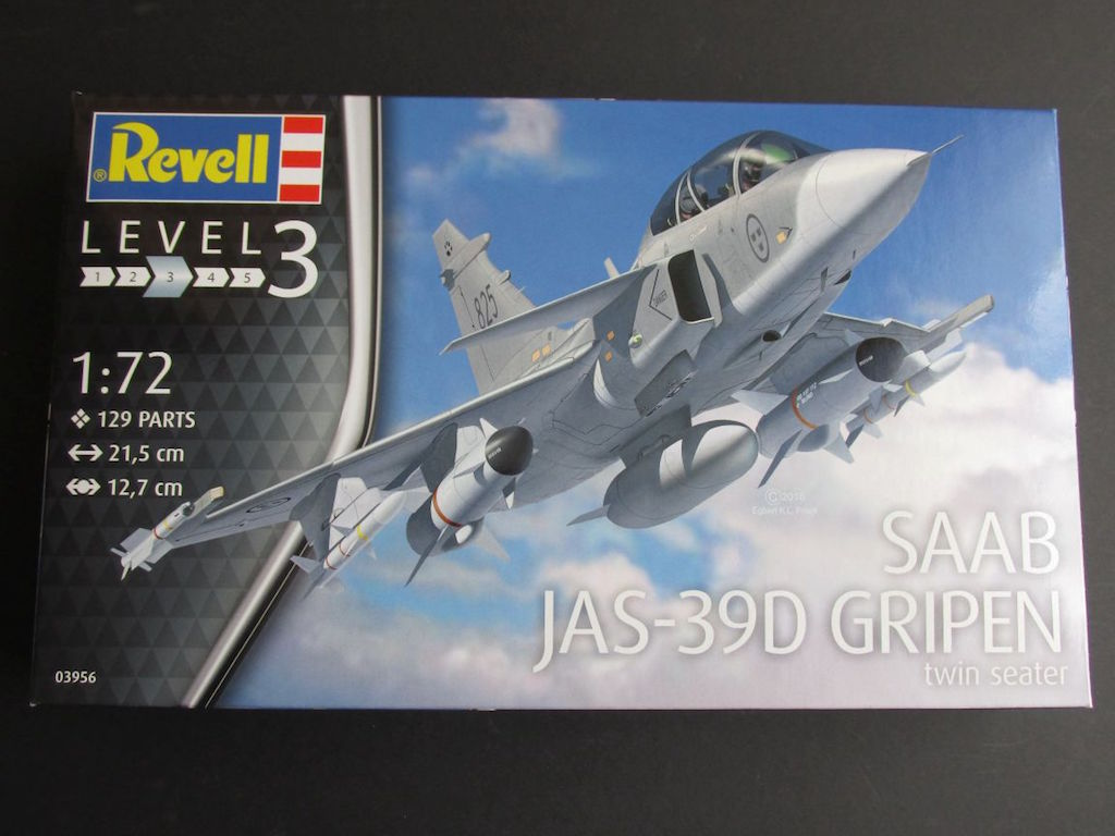 Revell-03956-JAS-39D-Gripen-1 JAS 39D Gripen Twin seater (Revell 1:72 # 03956)