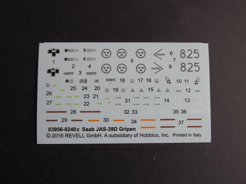 Revell-03956-JAS-39D-Gripen-13 JAS 39D Gripen Twin seater (Revell 1:72 # 03956)