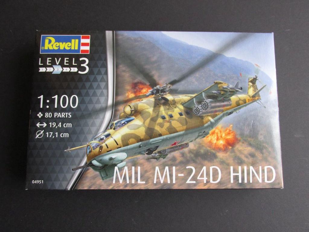 Revell-04951-Mi-24-Hind-D-10 Mil Mi-24 Hind D im Maßstab 1:100 von Revell ( # 04981 )