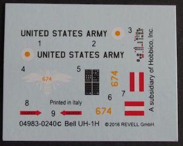 Revell-04983-Bell-UH-1D-1zu100-8 Bell UH-1D von Revell im Maßstab 1:100 ( # 04983 )