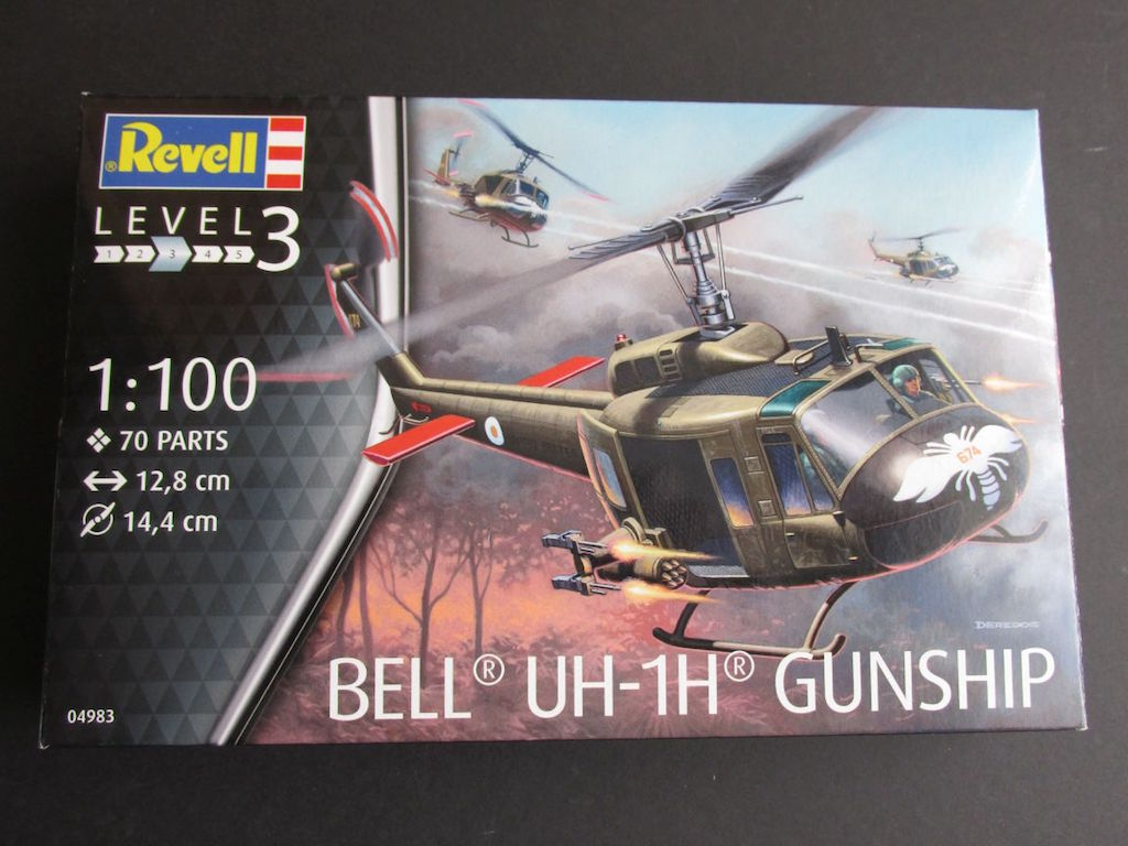 Revell-04983-Bell-UH-1D-1zu100-9 Bell UH-1D von Revell im Maßstab 1:100 ( # 04983 )