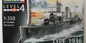 Kriegsmarine Zerstörer Typ 1936 von Revell im Maßstab 1:350( # 05141)
