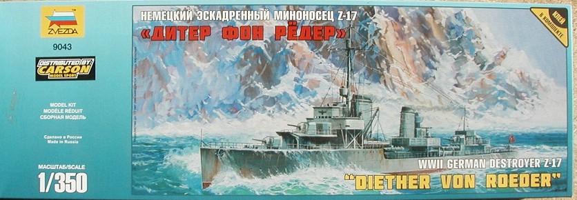 Revell-05141-German-Destroyer-Type-1936-20 Kriegsmarine Zerstörer Typ 1936 von Revell im Maßstab 1:350( # 05141)