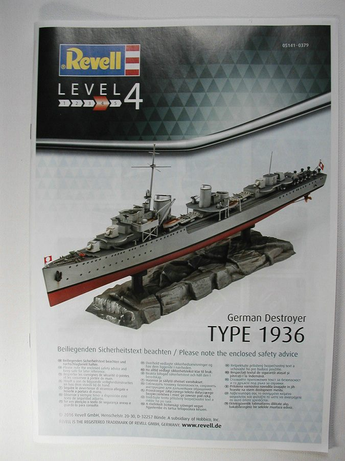 Revell-05141-German-Destroyer-Type-1936-3 Kriegsmarine Zerstörer Typ 1936 von Revell im Maßstab 1:350( # 05141)