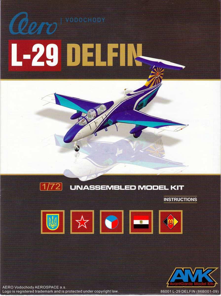 AMK-86001-Aero-L-29-Delfin-1zu72-Bauanleitung-Deckblatt Aero L 29 Delfin von Avantgarde ( AMK 86001) im Maßstab 1:72