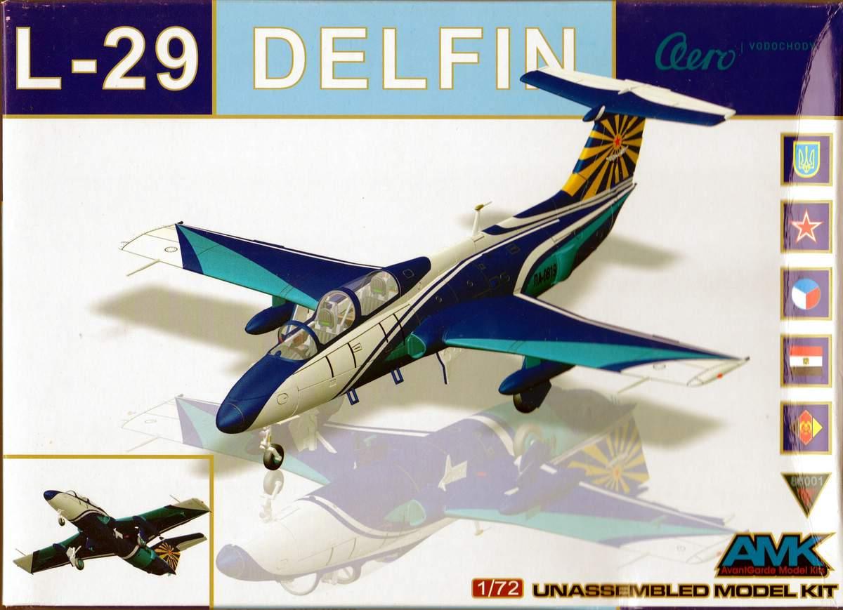 AMK-86001-Aero-L-29-Delfin-1zu72-Deckelbild Aero L 29 Delfin von Avantgarde ( AMK 86001) im Maßstab 1:72