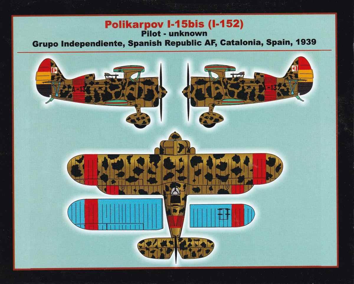 Armory-14101-Polikarpov-I-15bis-1 Polikarpov I-15bis von Armory im Maßstab 1:144 (#