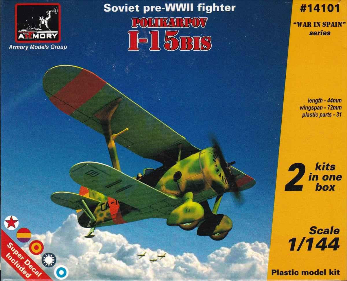 Armory-14101-Polikarpov-I-15bis-22 Polikarpov I-15bis von Armory im Maßstab 1:144 (#