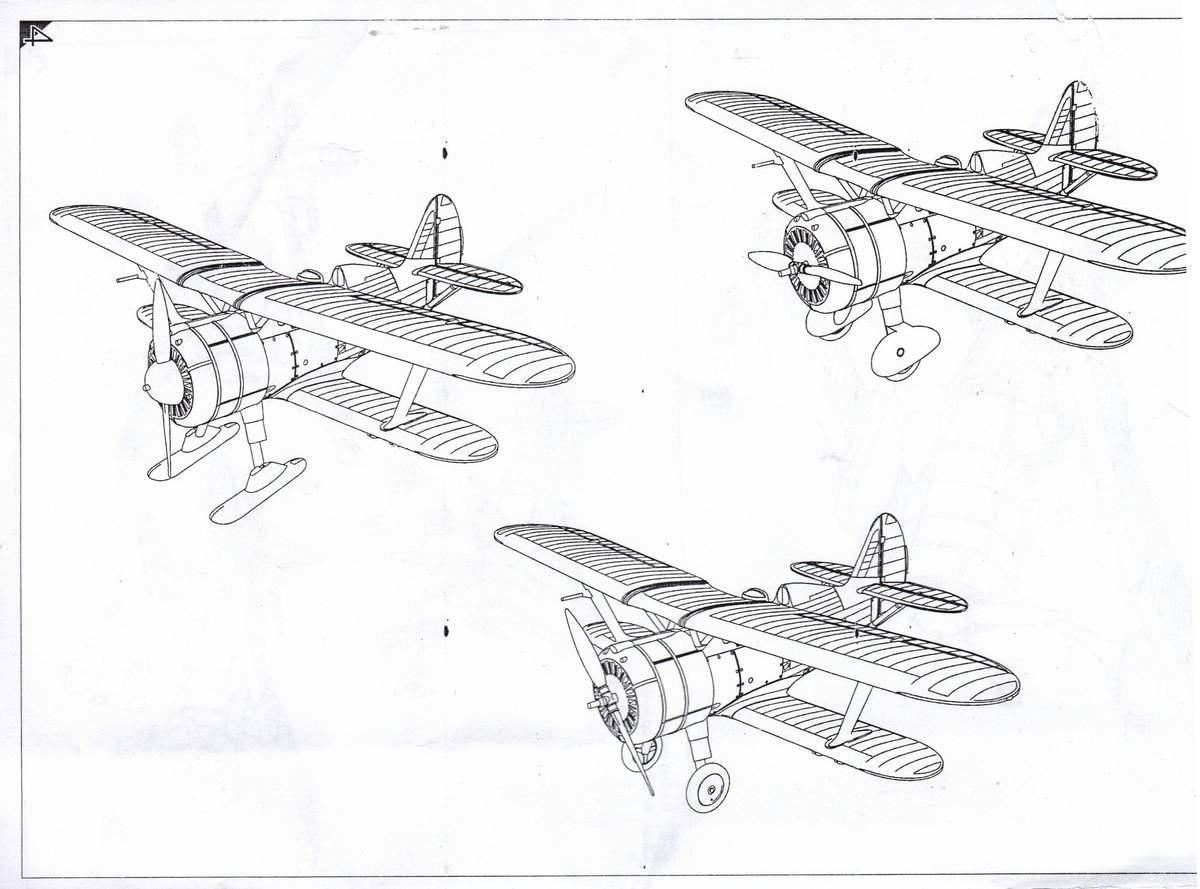 Armory-14101-Polikarpov-I-15bis-3 Polikarpov I-15bis von Armory im Maßstab 1:144 (#