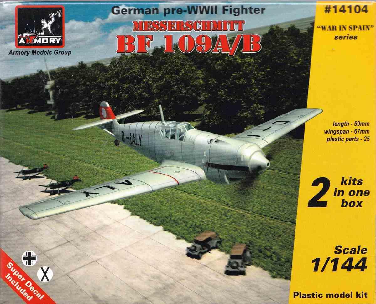 Armory-14104-Messerschmitt-Bf-109-A-B-18 Messerschmitt Bf 109 A/B im Maßstab 1:144 von Armory (# )