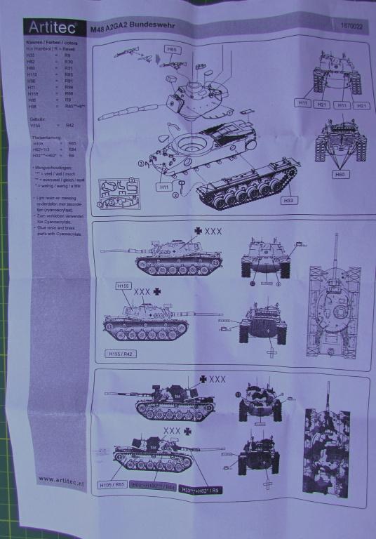 Artitec1870022-M48A2GA2-3 Kampfpanzer M48A2GA2 von Artitec 1:87 ( # 1870022 )