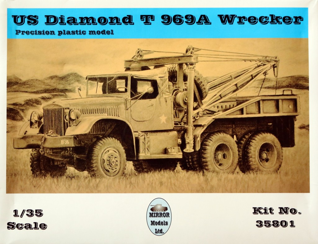 Boxart Build Review : Diamond T 969A Wrecker Mirror Models 1:35