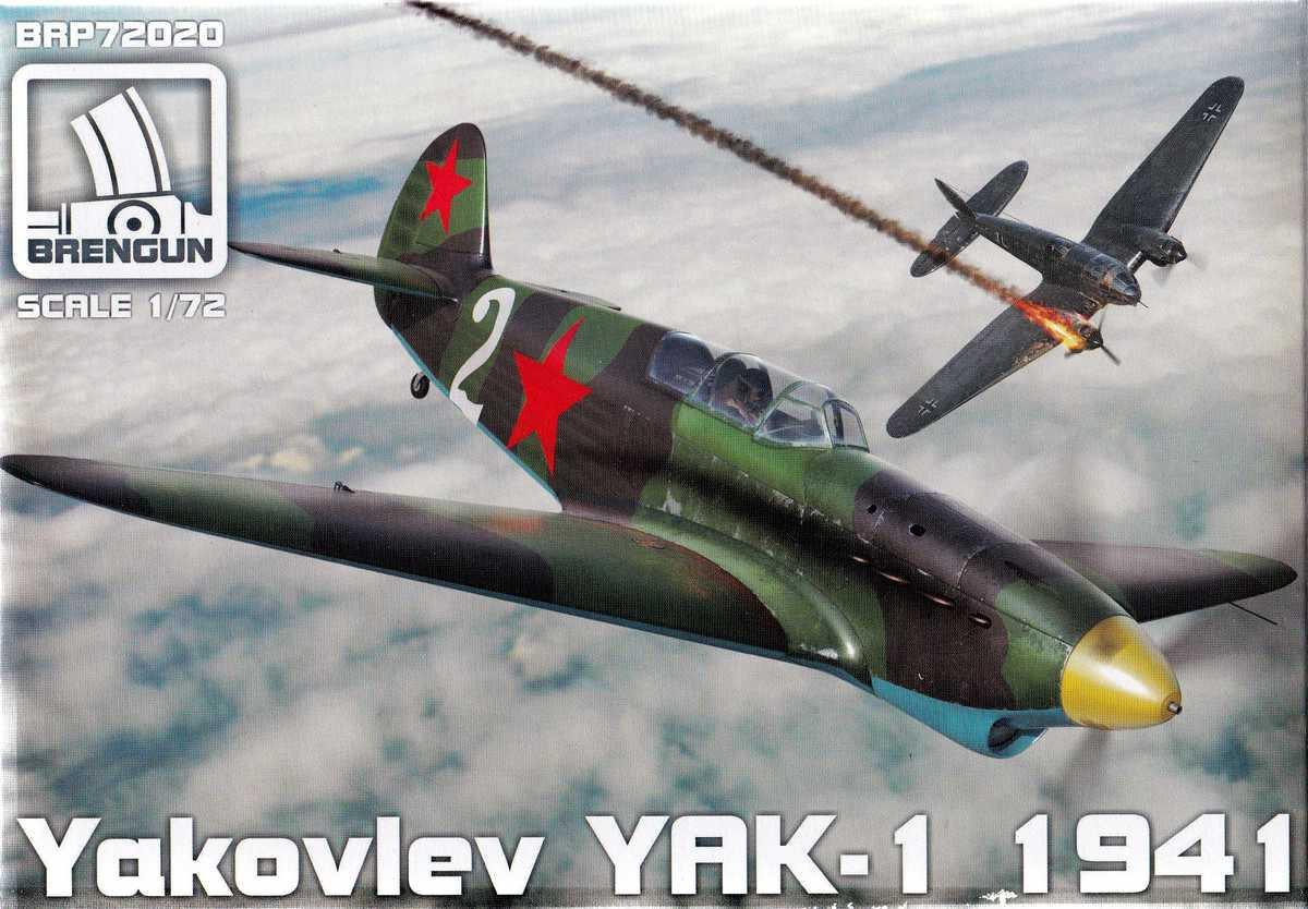 BrenGun-BRP-72020-Yak-1-1941-4 Yak-1 Year 1941 von Brengun im Maßstab 1:72 ( BRP72020 )